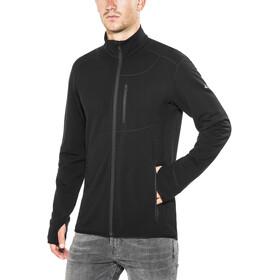 Icebreaker Descender LS Zip Jacket Herre black/black